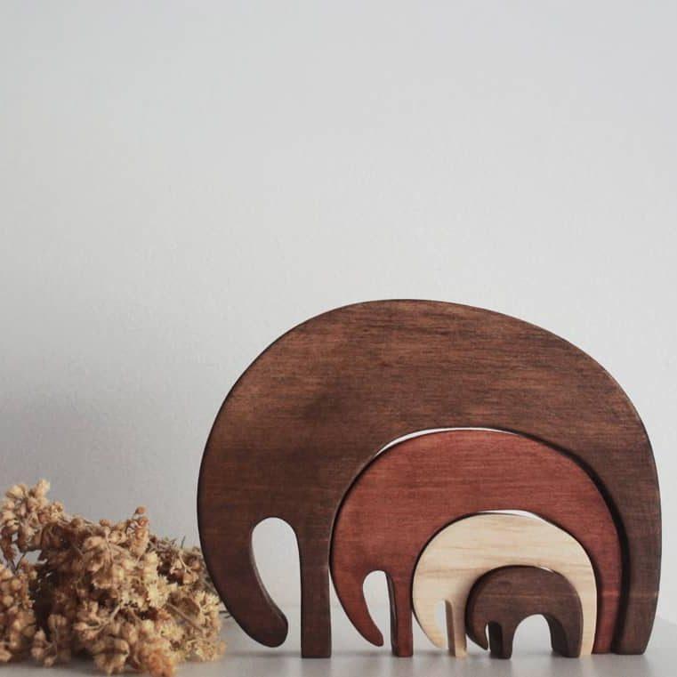 Houten puzzel Olifant