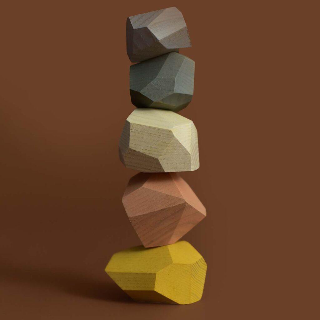minmin balancing stones - pastel